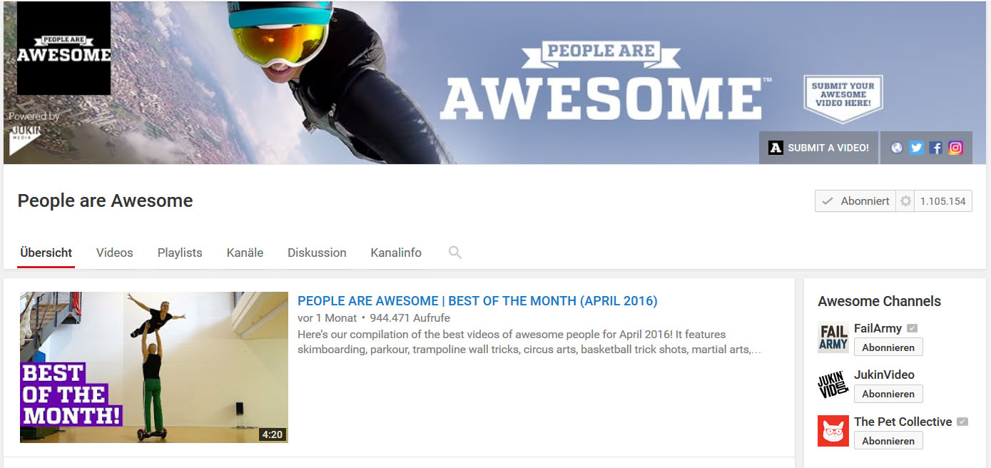 "Unsere Hoverboard Tricks auf ""People are awesome"" Duo Scacciapensieri"