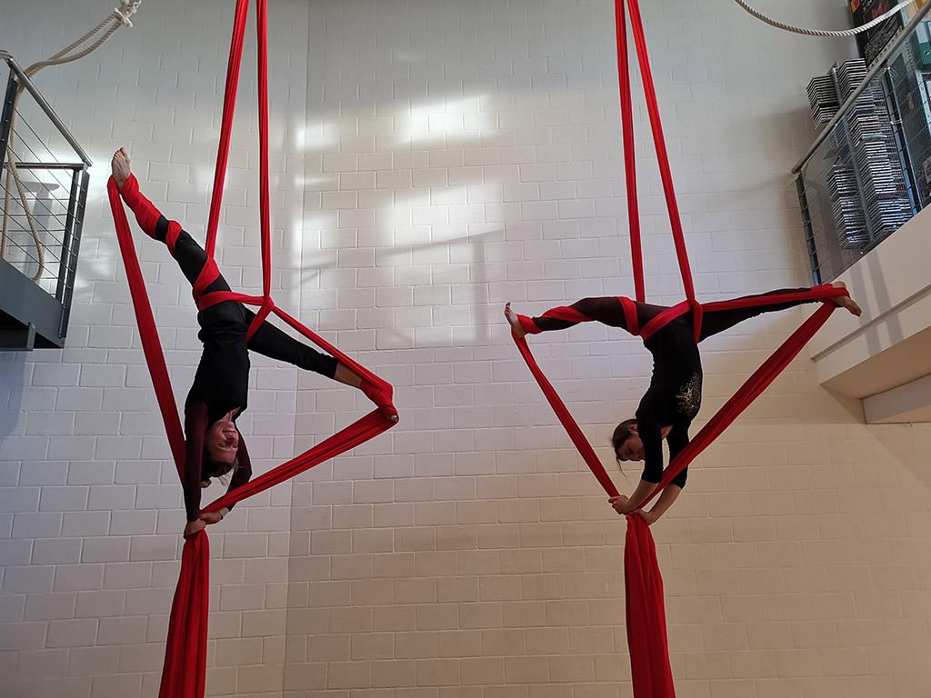 Luftakrobatik, Vertikaltuch, Trapez, Aerial Hoop in der Loft am Bach Dietlikon Zürich