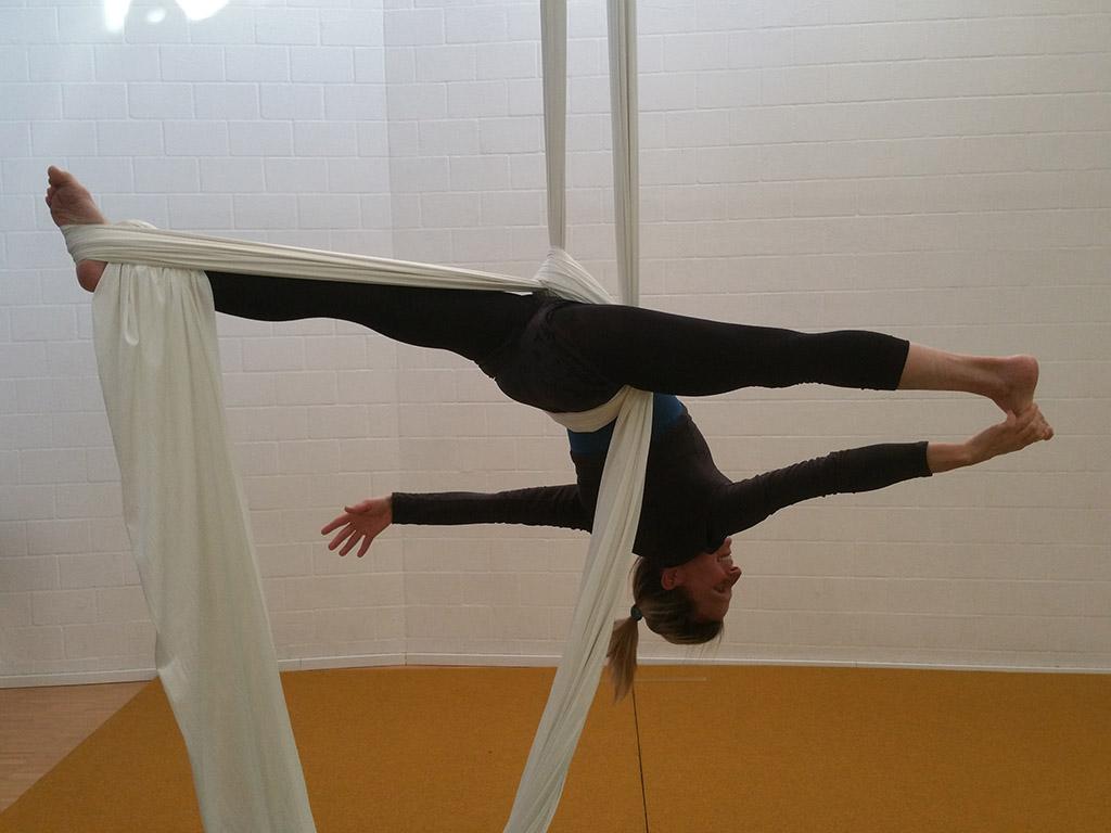 Luftakrobatik Vertikaltuch Trapez Aerial Hoop Loft am Bach Dietlikon Zuerich (4)