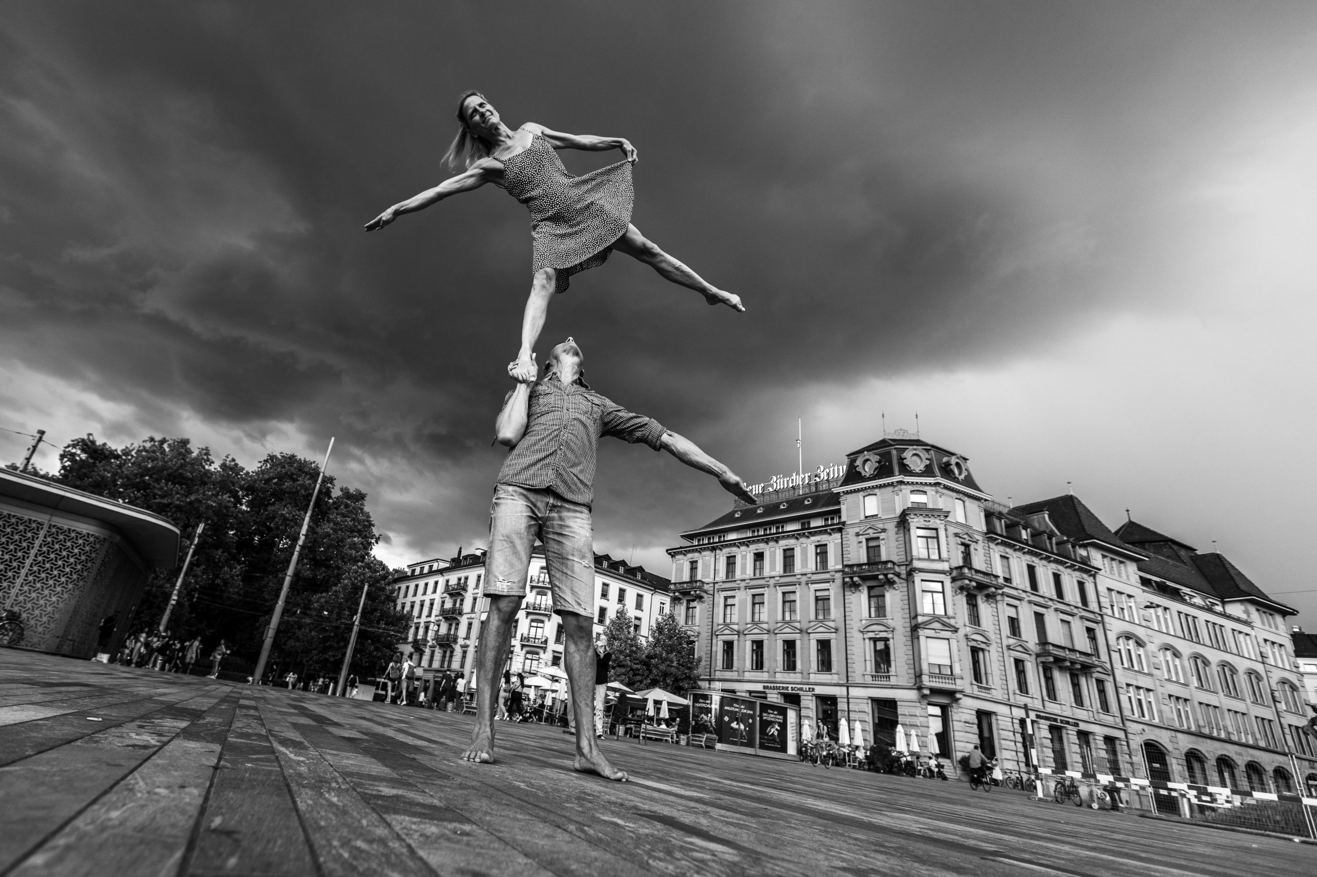 Partnerakrobatik, Duo Scacciapensieri, Zürich